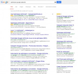 optimizare google adwords